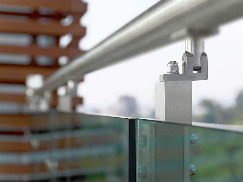 Barandales modernos para exteriores construinox for Materiales para escaleras de interior